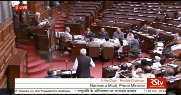 Watch: How the Congress staged a walkout from the Rajya Sabha after Narendra Modi's raincoat jibe