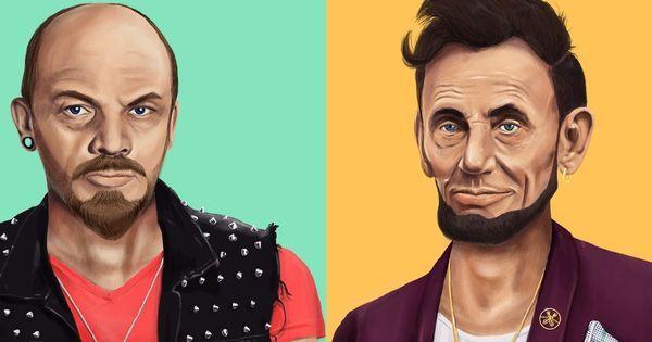 Tie-dye Gandhi, biker Lenin: What world leaders would look like if they were hipsters