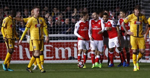 Football: Arsenal beat Sutton United 2-0 to enter FA Cup quarters