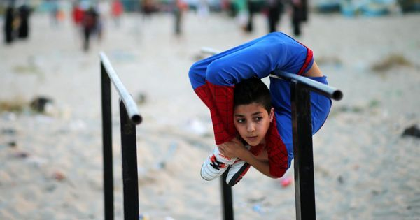 Watch Palestinian 'Spider-Boy' break a world record for body-bending