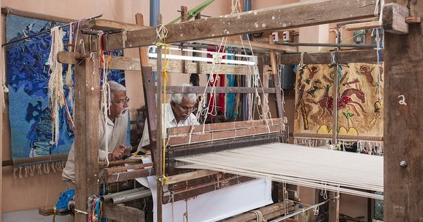 An Indian artist and a weaver explore the line between art and craftsmanship with silk tapestries