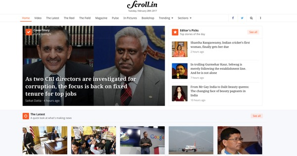 The Readers' Editor writes: Why did Scroll change its home page design?