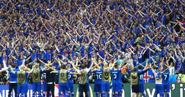 Iceland's Viking Thunderclap proves to be popular celebration at Asian Cup