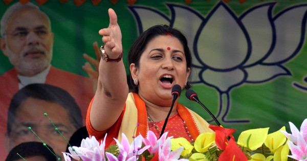 Watch: Smriti Irani is back in the broadcasting business, this time as a minister.