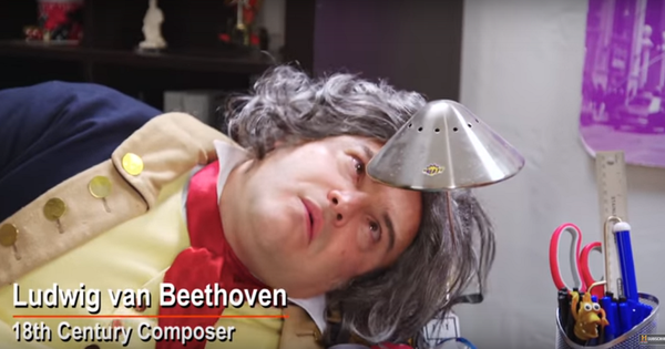 Dan Harmon travels back in time (sort of) to interview Buddha, Beethoven and Edison
