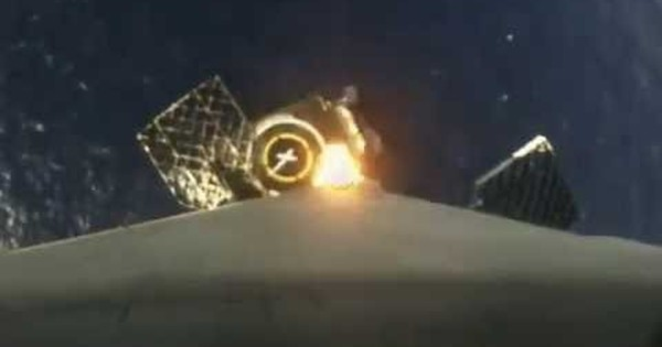 Video: what you'd see if you were actually on the SpaceX Falcon 9 rocket that landed at sea