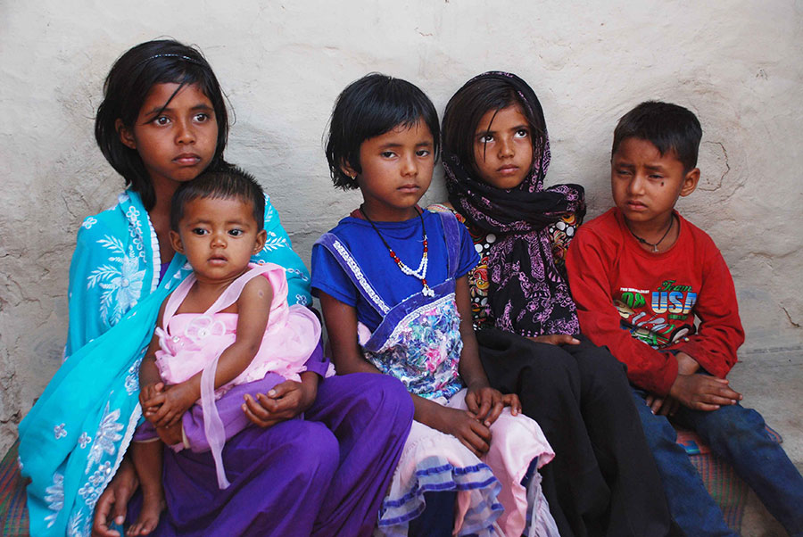 Majloom Ansari is survived by four daughters and a son. Photo: Manob Chowdhury