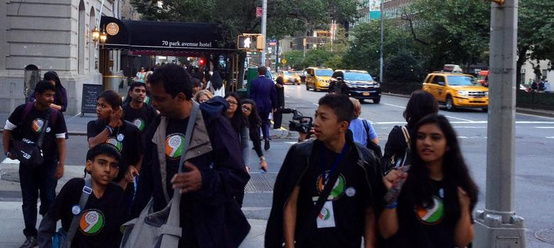Why these 15 Indian teenagers are lobbying for rights with Narendra Modi all the way in New York