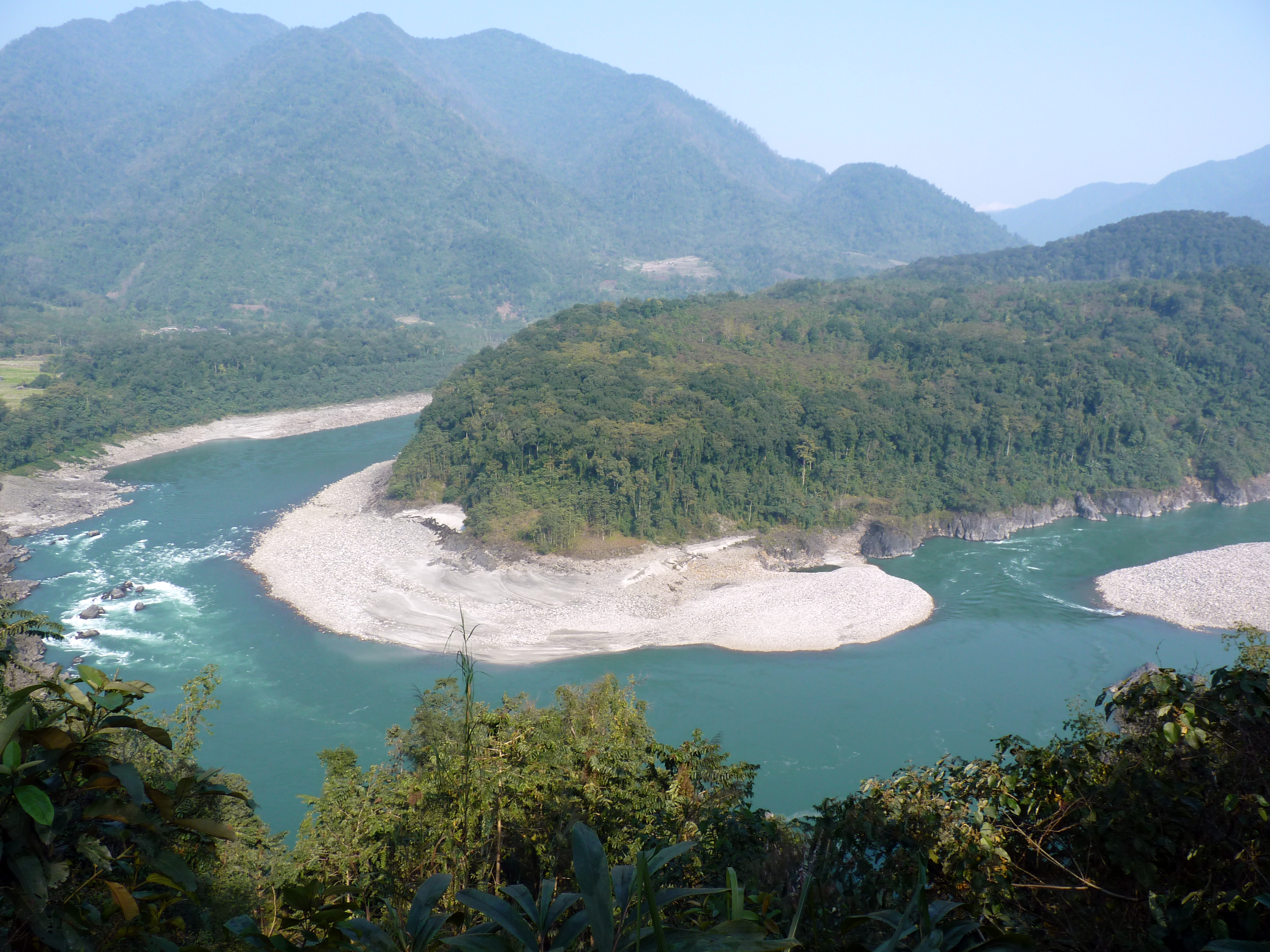 There are 44 dams planned in the Siang basin, including five on the Siyom tributary, according to a 2013 study. (Credit: Mousvurik / Wikimedia Commons CC BY 4.0)