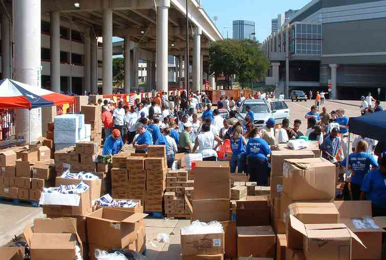 Walmart won praise for its efforts to help ferry supplies to New Orleans after Hurricane Katrina in 2005.Photo credit: Walmart