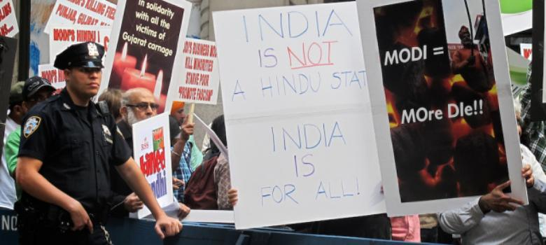 [Photos] The anti-Modi protests at Madison Square you didn't see on TV last night