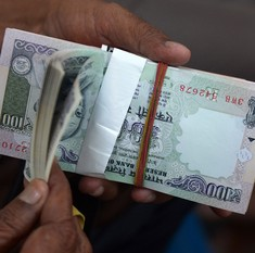 Rupee ends at two-year low of 66.76 to the dollar