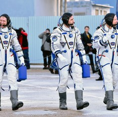 Britain's first official astronaut takes off for International Space Station