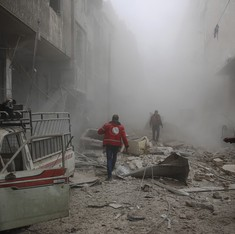 At least 45 civilians killed in bombings in Syrian rebel bastion