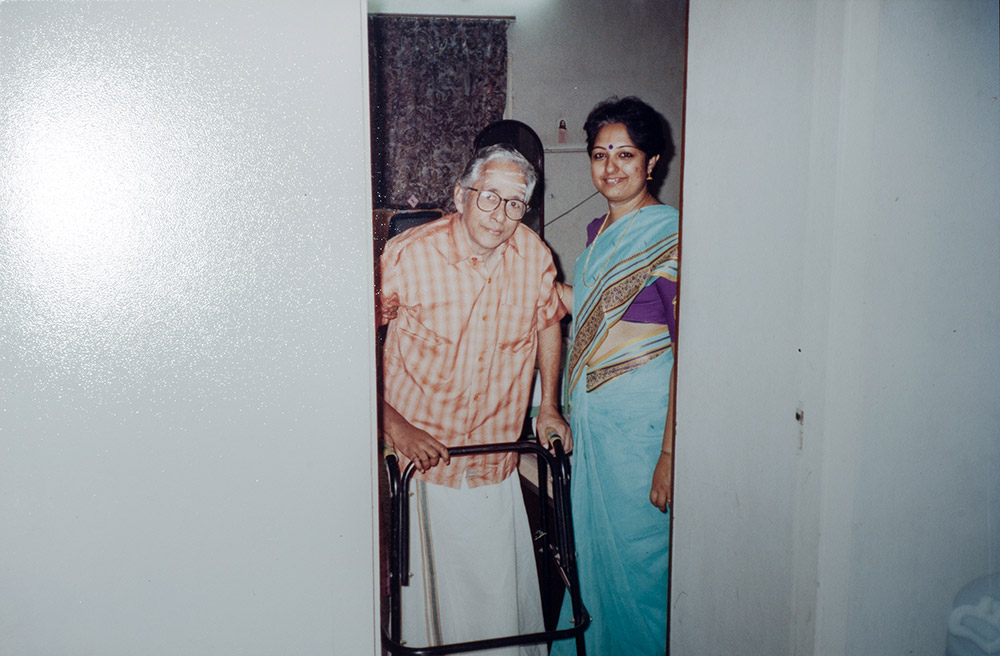 Maya Ramachandran with her father V Ramachandra. Courtesy: Naveen PM
