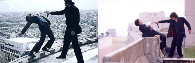 Similar scenes from 'Zinda' and 'Oldboy'.