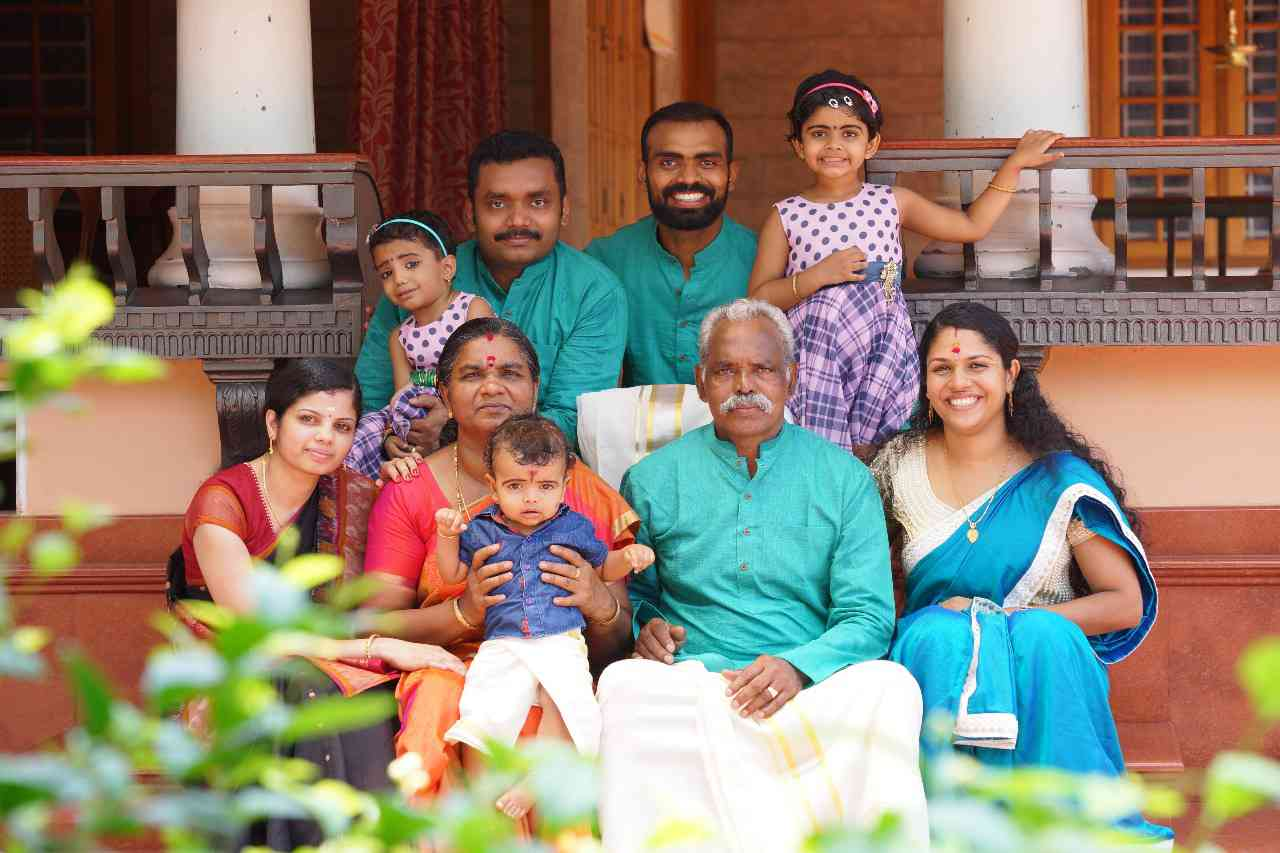 PR Sreejesh with his family. (Photo credit: Raveendran)