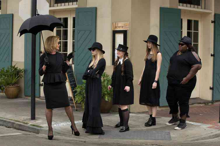 Witches from Miss Robichaux's Academy from the third series of American Horror Story. Courtesy IMDB.