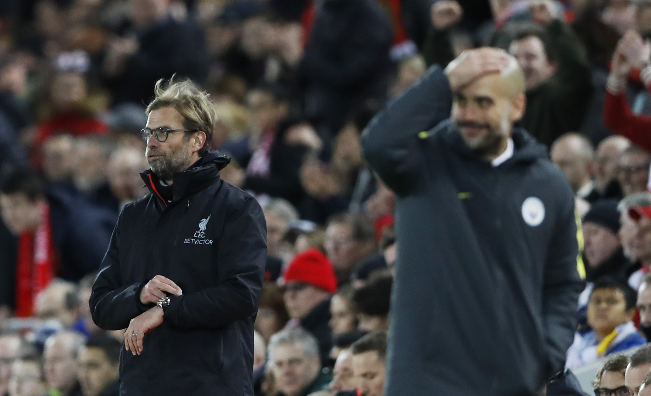 Jurgen Klopp's Liverpool and Pep Guardiola's Manchester City are the strongest challengers to Chelsea's early surge (Image credit: Reuters)