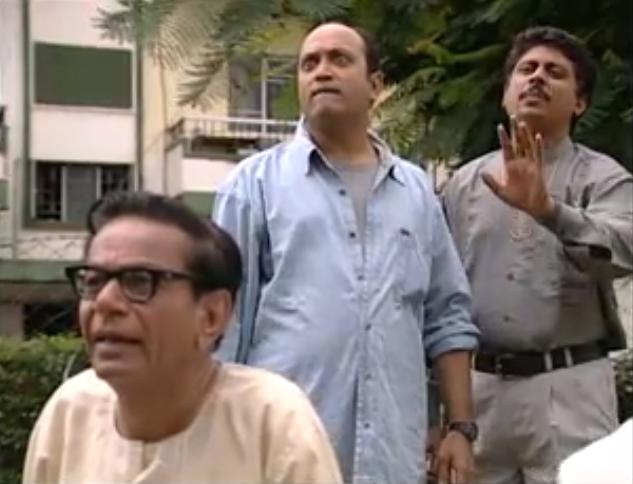 Kishore Pradhan, Yatin Karyekar and Umesh Shukla in Gulmohar. Courtesy Star Plus/Hotstar.