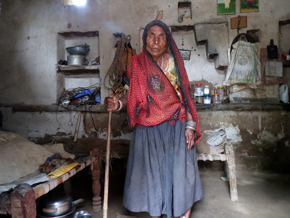 In Khatanon Ka Badiya village in Mandal block in Bhilwara district, 70-year old Radha Gujjar's old age pension of Rs 500 was stopped in January. She was recorded as dead on March 3.