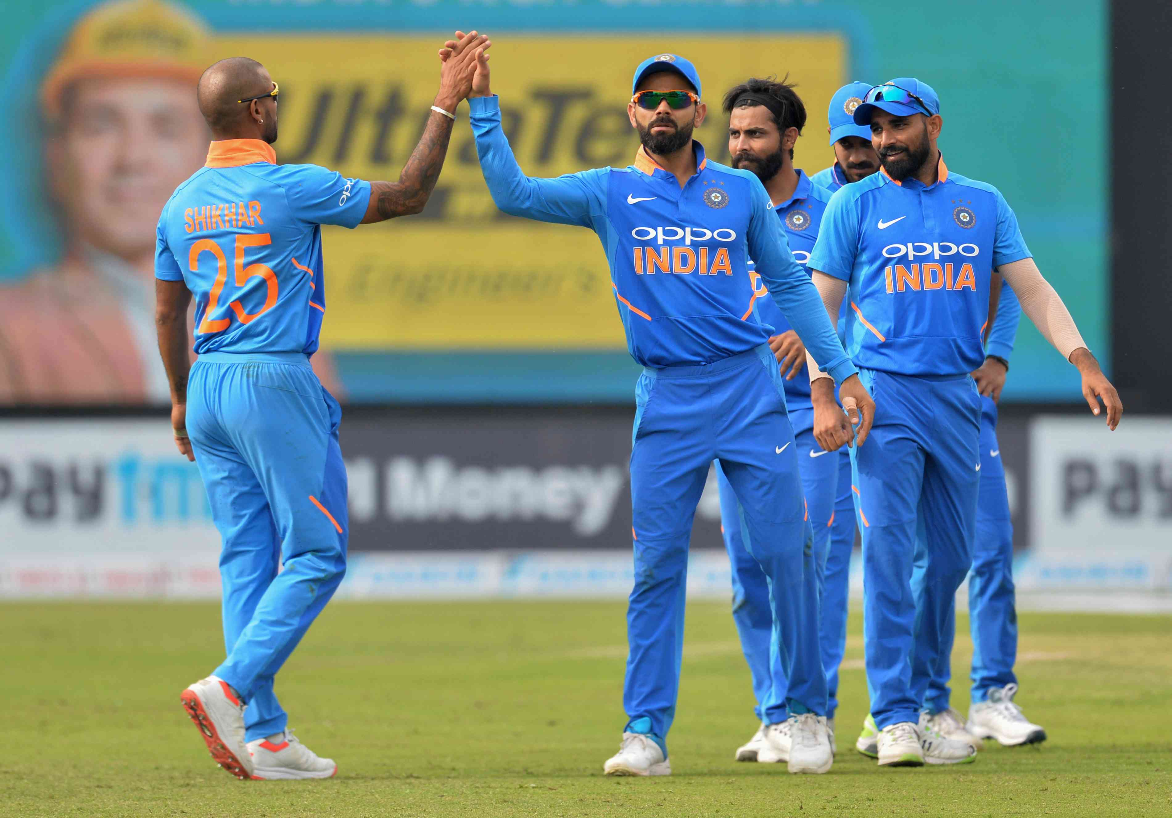 Team India during their last ODI series – AFP / Sajjad Hussain