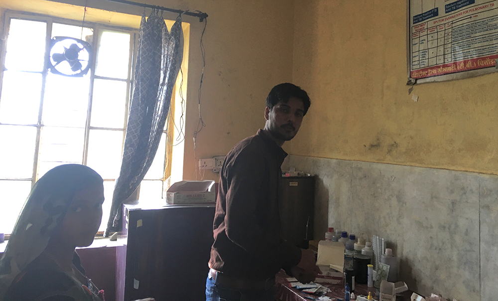 Kuldeep Joshi works as a laboratory technician in Achnera PHC. Photo: Menaka Rao