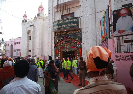 Shri Guru Ravidas Janam Asthan Mandir stands at the birthplace of Ravidas in Varanasi. The temple was built by Dera Sachkhand Ballan, Jalandhar, with contributions from the affluent Ravidassia diaspora abroad. Photo credit: Santosh K Singh.