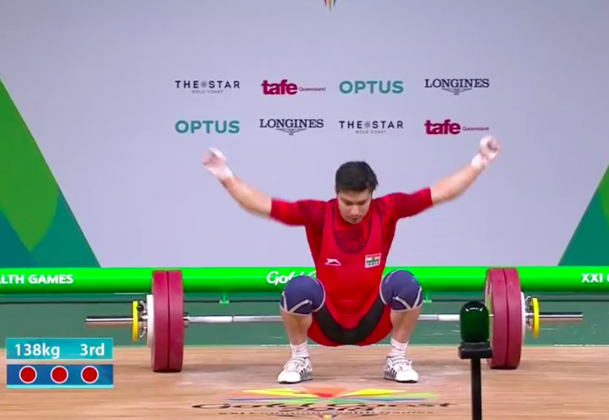 He couldn't get a third successful lift but Deepak Lather is in with a very good chance to medal.