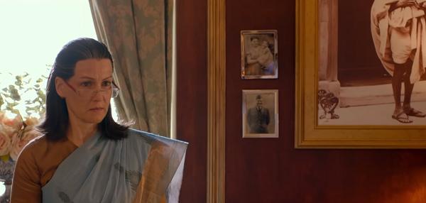Suzanne Bernert as Sonia Gandhi. Courtesy Bohra Bros.
