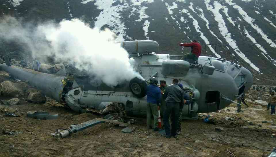 In April 2018, six people were injured an Indian Air Force Mi-17 helicopter crashed in Kedarnath in Uttarakhand's Rudraprayag district while landing.  Credit: HT Photo