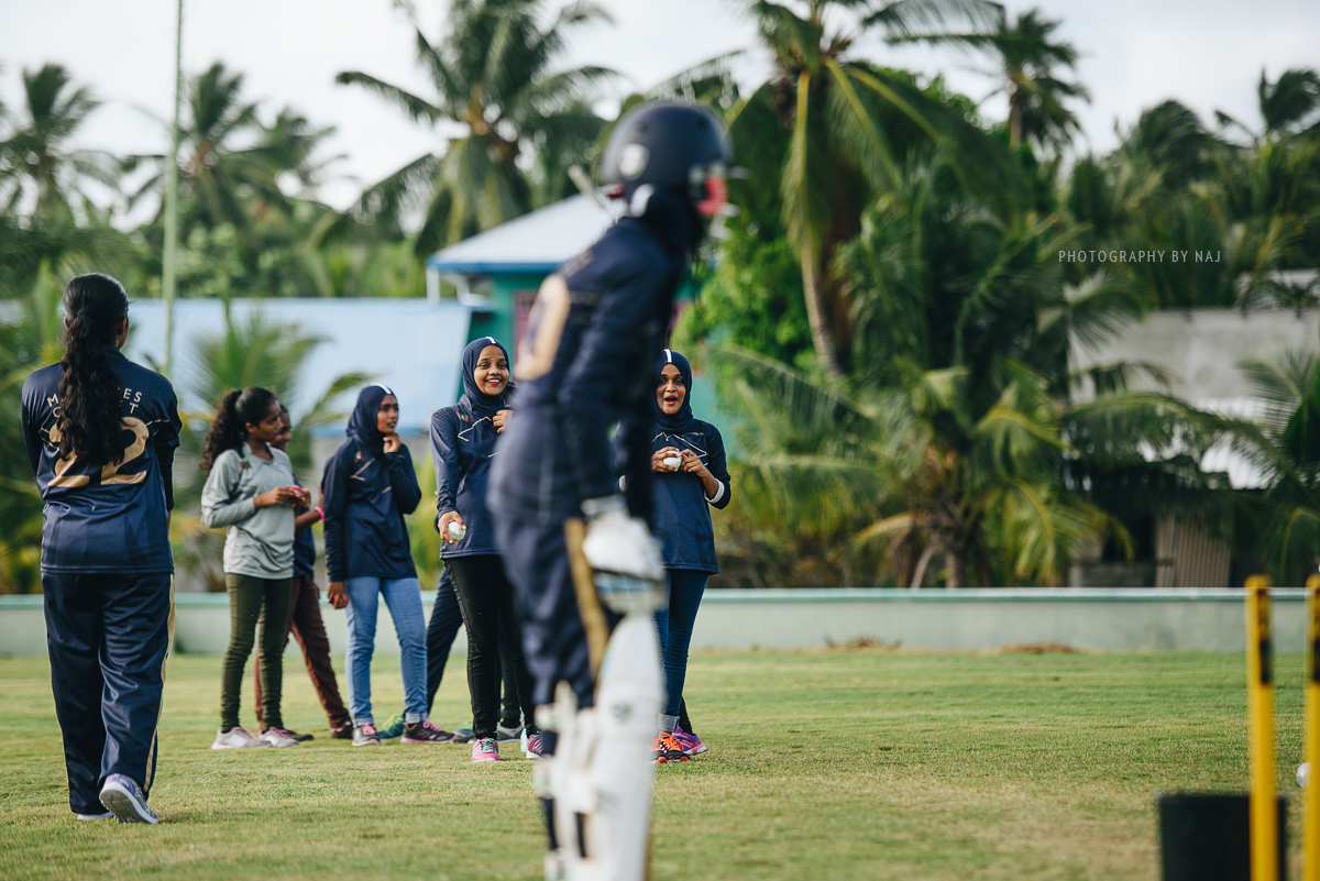 In Fuvahmulah, the first generation of women cricketers slowly takes shape.