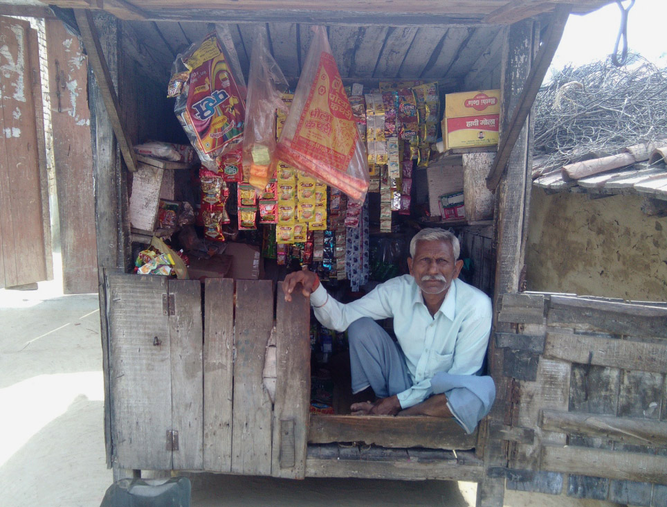 Anokhe Lal runs a shop in the village.