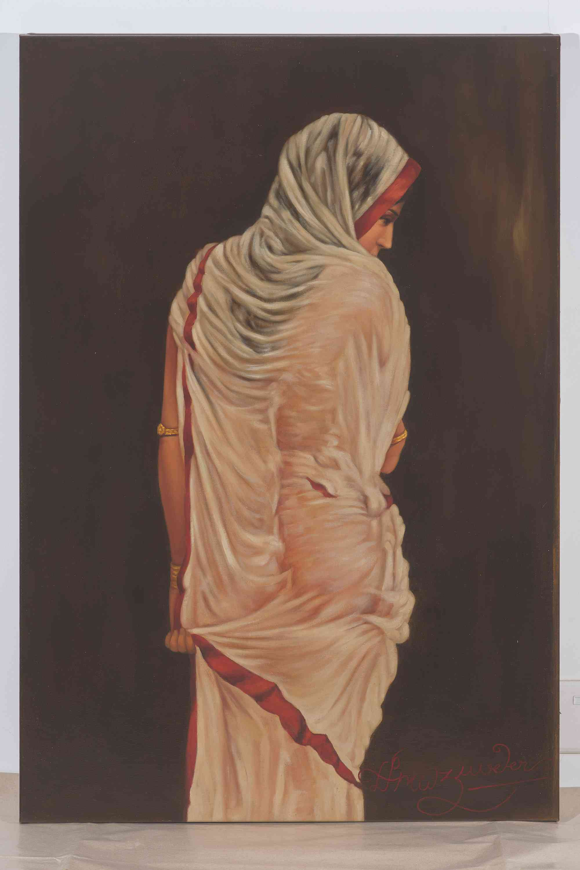 'Pallipran', 90.3x61.5 cm, oil on canvas. Image courtesy: Kumar Collection.