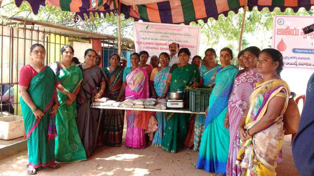 Some members of the self-help groups created under the programme are widows of tenant farmers who committed suicide and some are divorced. None have any land in their name. Photo courtesy ZBNF Project Team