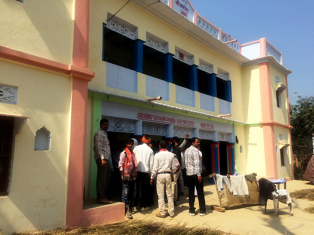 A view of a Thakur home in Purateji village in Jaunpur.