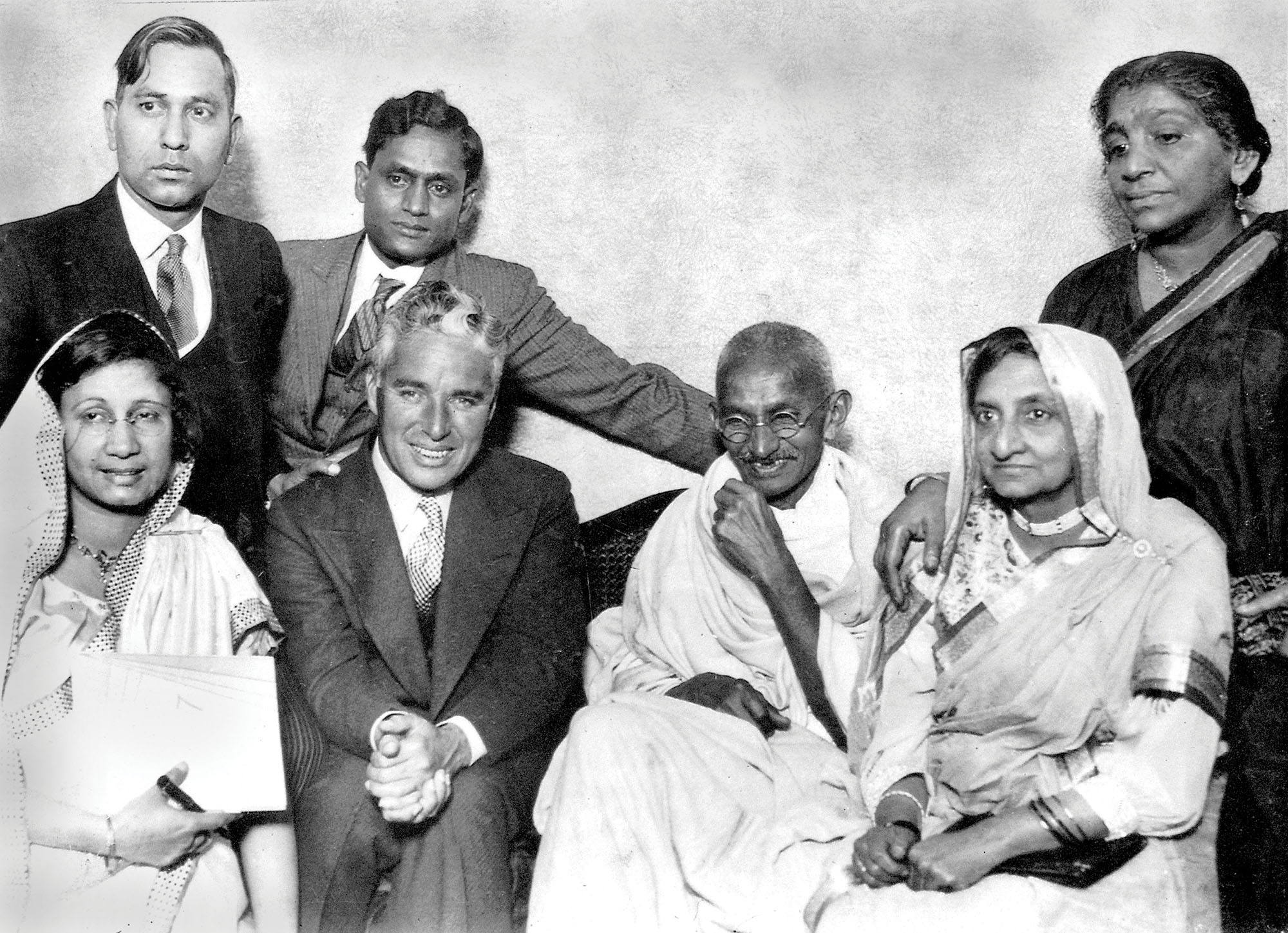 Gandhi met Charlie Chaplin even though the Mahatma had no idea who he was. In their brief meeting, they ended up arguing over the use of machinery. While Gandhi favoured a return to manual labour – as illustrated in his use of the charkha to spin cloth – Chaplin believed that automation was synonymous with progress. Credit: Alamy