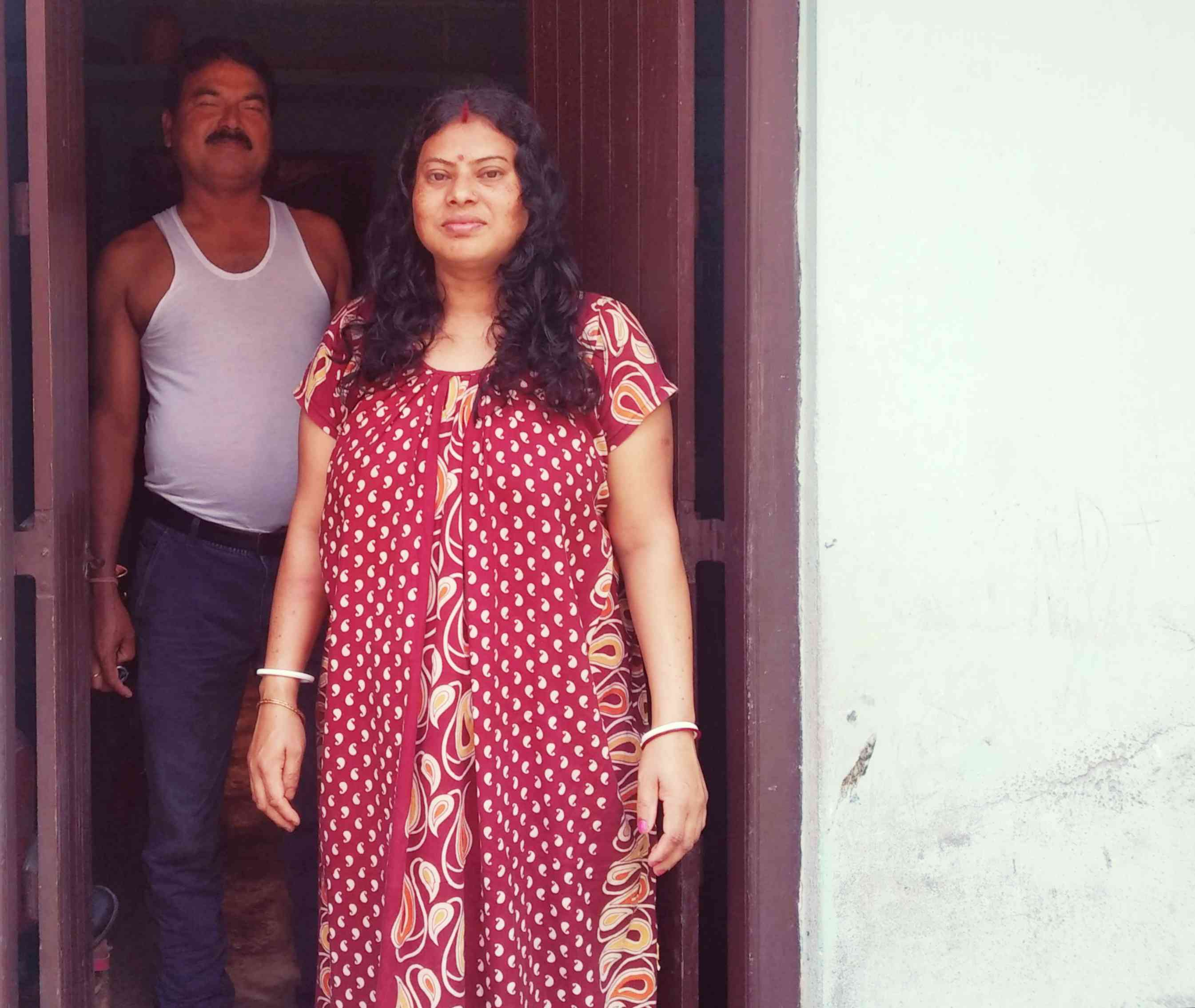 Anita Sarkar and her husband Prabir Sarkar. Anita Sarkar's brother took the train from Bengal to attend her hearing but the objector failed to turn up.