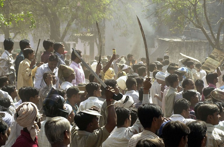 The 2002 Gujarat riots left over 1,000 people dead, the majority of them Muslims. (Credit: Sebastian D'Souza / AFP)