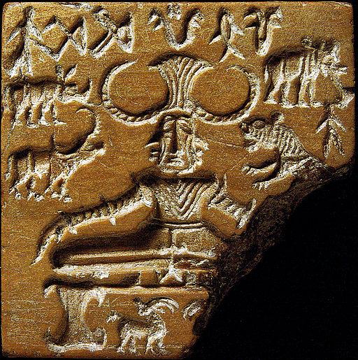 'Pashupati' seal discovered in Mohenjo-daro. [Credit: Wikimedia Commons]