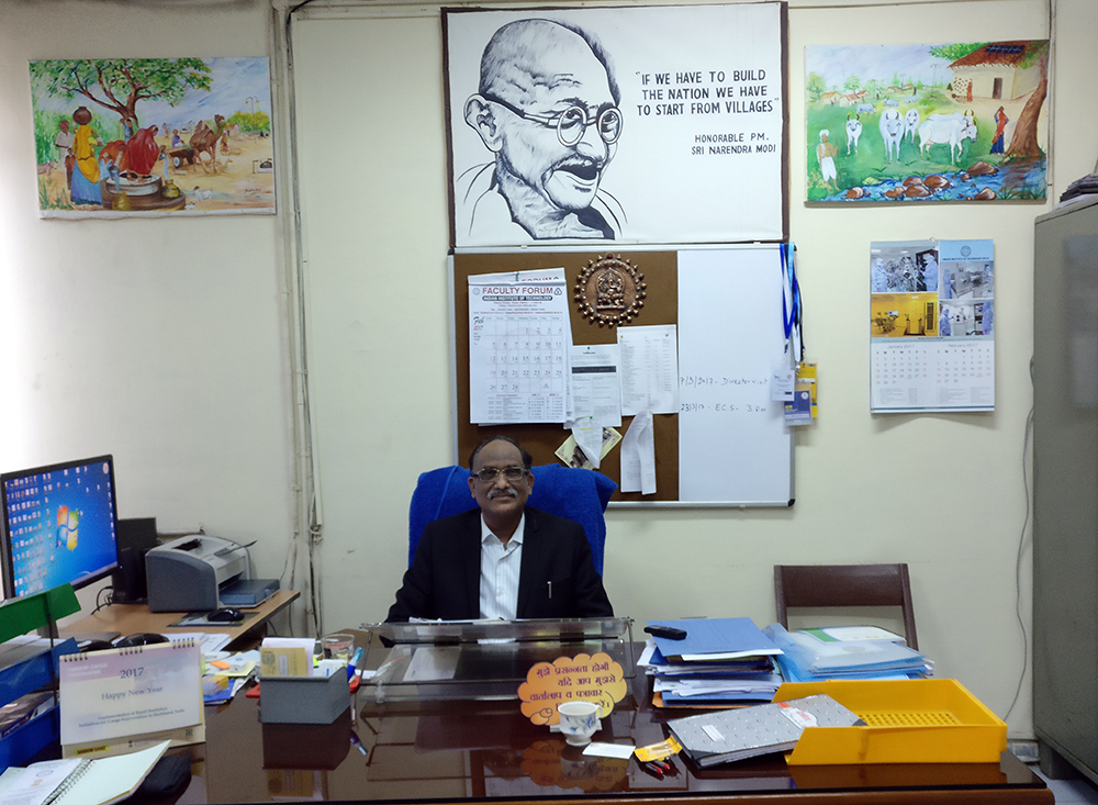 Professor Virendra Kumar Vijay of the Centre for Rural Development and Technology is heading the panchgavya project.