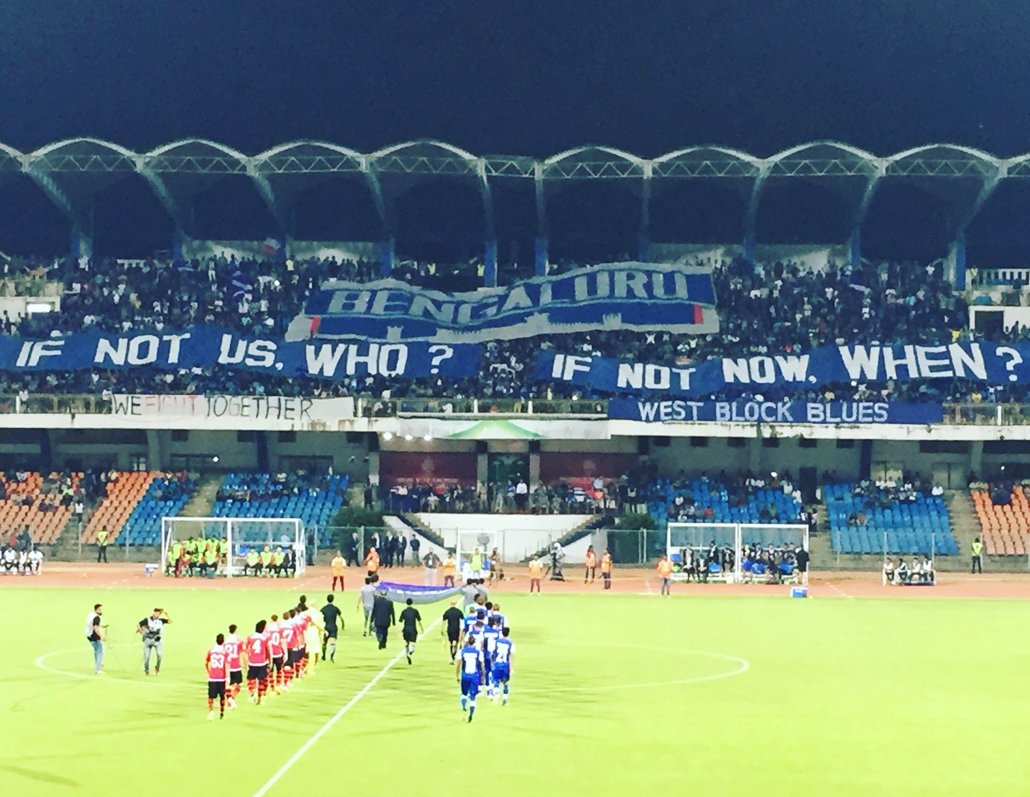 The West Block Blues have a clear message for the team.