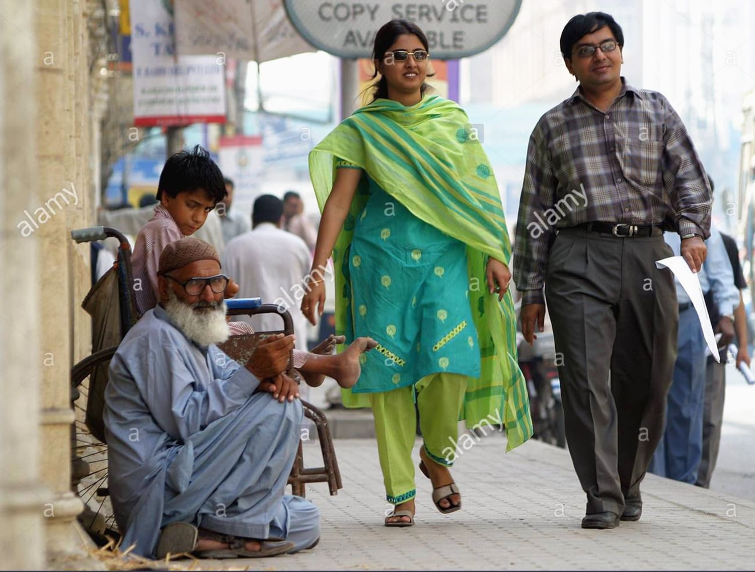 A middle-class couple in Karachi, 2004.