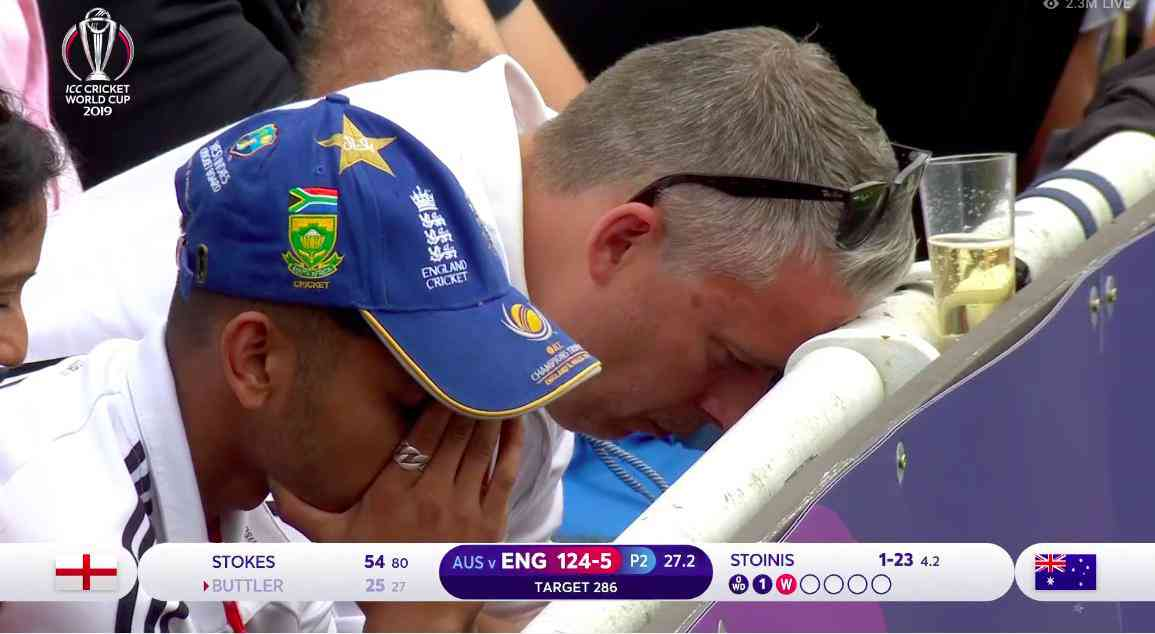 England fans react to Buttler's dismissal | Screengrab from Hotstar