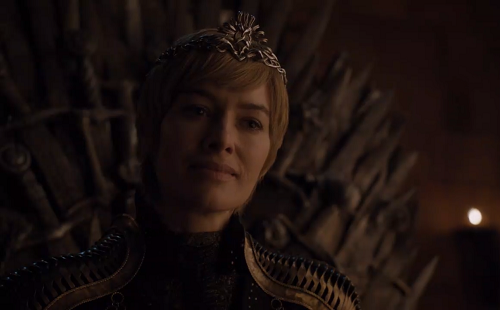 Cersei Lannister (Lena Headey) in Game of Thrones Season 8. Courtesy HBO.