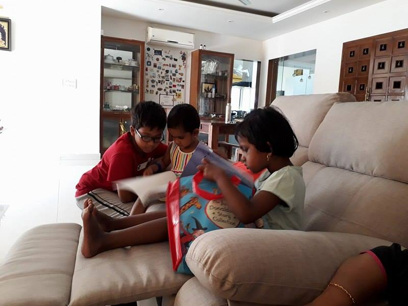 Subbu Parameswaran's children hanging out.