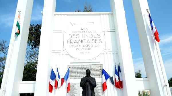 A memorial for the Indians who fought on behalf of France in World War II. Courtesy Pankaj Rishi Kumar.