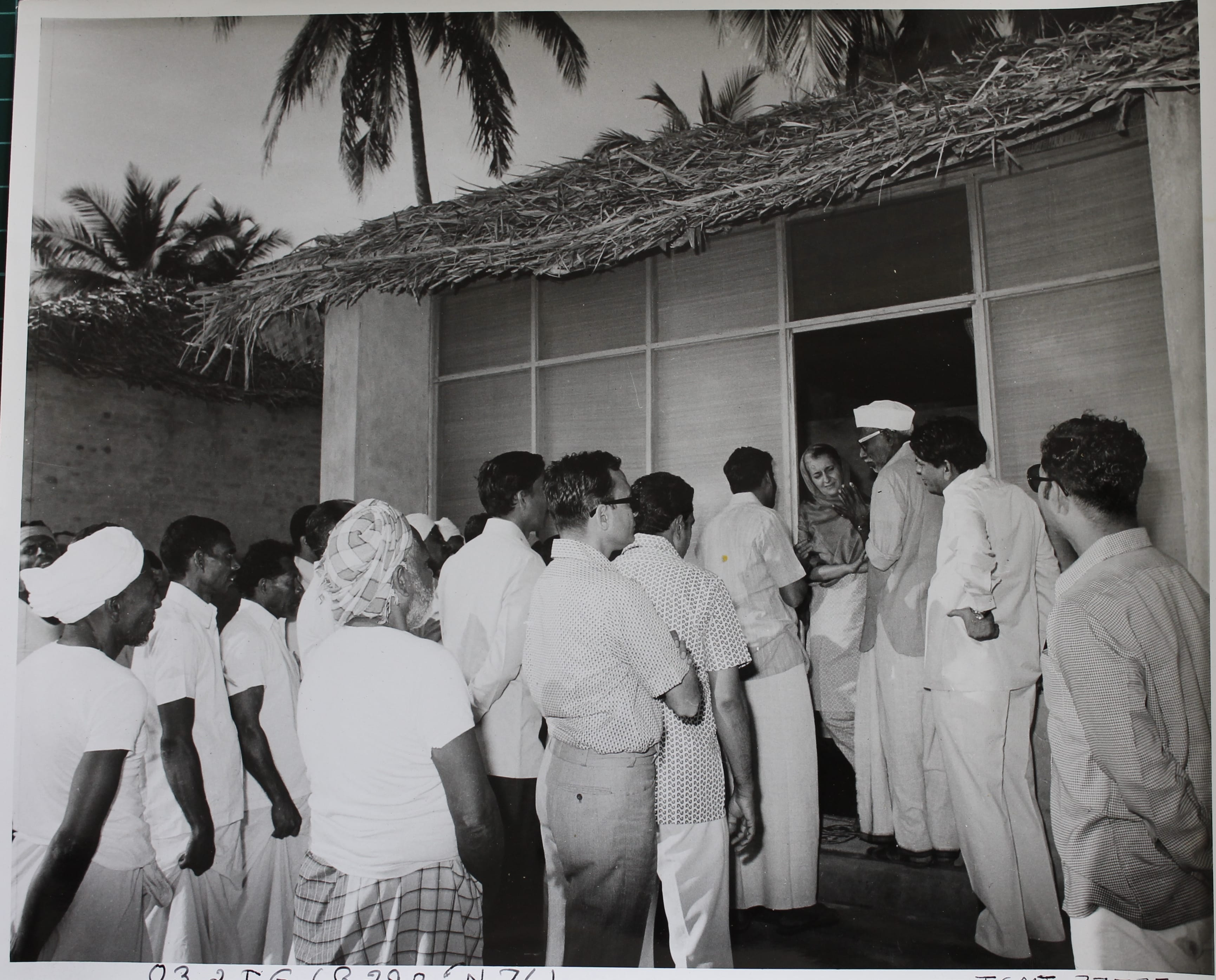 Indira Gandhi interacts with people at Bangaram during her three day visit to Laccadive (now Lakshadweep), Minicoy, and Aminidivi Islands (October 10, 1969). Bangaram, Lakshadweep Islands. Courtesy: Indira Gandhi Memorial Trust