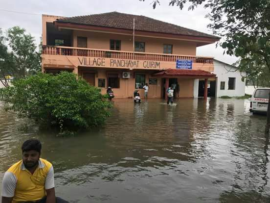 Not just cities, villages and semi-urban areas are also under water this monsoon – a fallout of rampant construction. (Credit: Benedict de Souza)