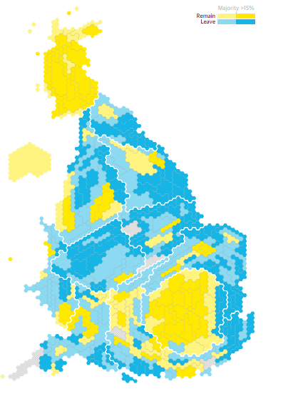 although there are scattered districts that have also voted to remain there seem to be no leave voting districts in london scotland or northern ireland